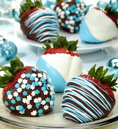Hanukkah Chocolate Covered Strawberries