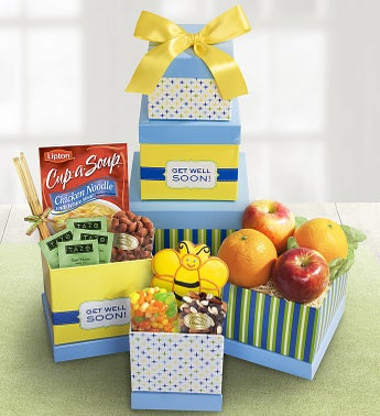 Get Well Wishes Fruit Sweets Tower