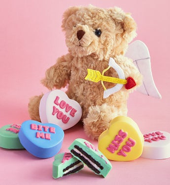 Conversation Heart Oreo® Cookies With Cupid Bear