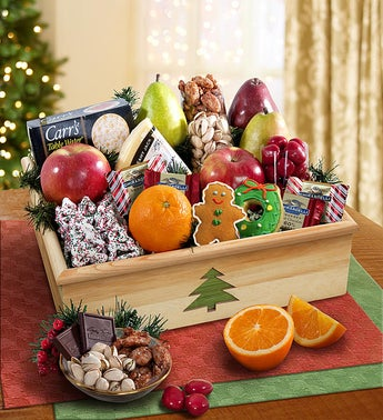Holiday Tree Fruit  Sweets Crate