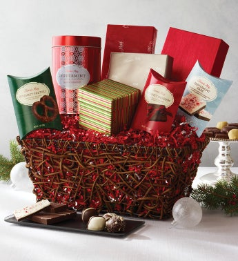 Fannie May® Joyous Greetings Holiday Gift Basket