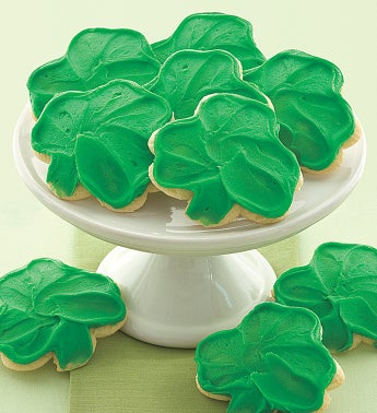 Frosted Shamrock Cookies