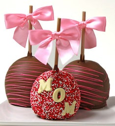Caramel Chocolate Dipped Apples for Mom