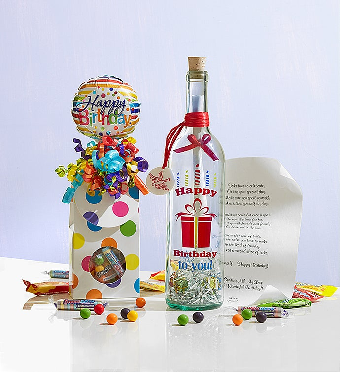 Personalized Message in a Bottle Happy Birthday