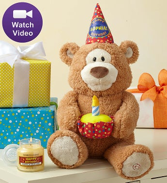 Personalized Happy Birthday Animated Bear by Gund