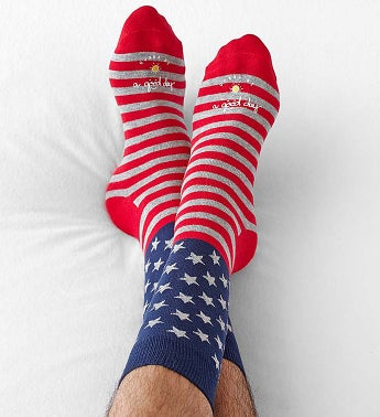 Good Day Patriotic Socks for Men
