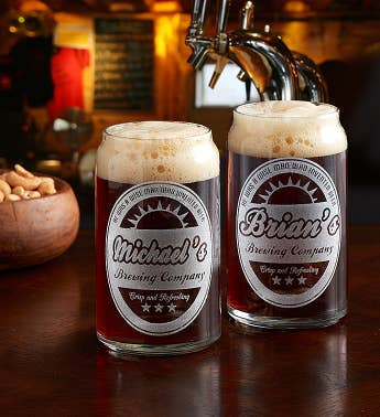 Personalized Beer Can Glass - Set of 2