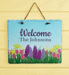 Personalized Spring Welcome Sign