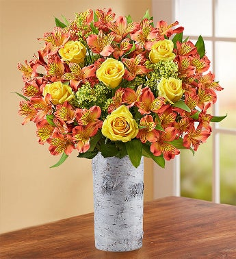 Fall Rose  Peruvian Lily Bouquet