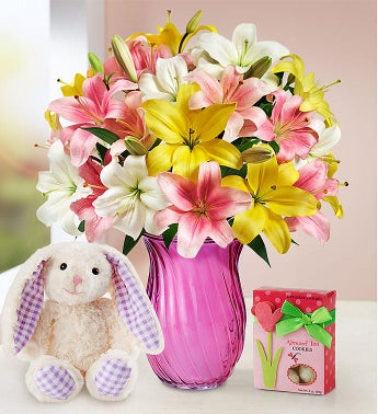 Sweet Spring Lilies for Easter