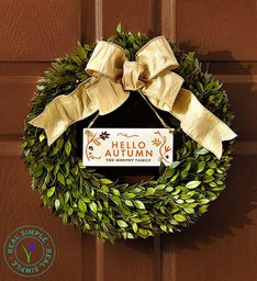 Real Simple® Wreath for All Seasons - FREE Plaques