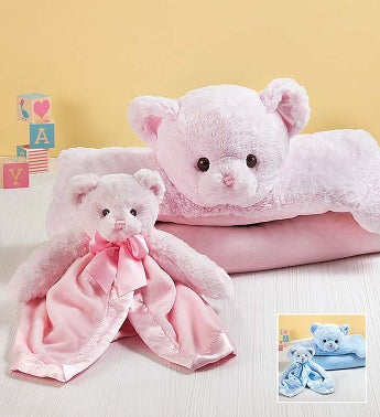 Bearington Teddy Bear Baby Mat and Snuggler