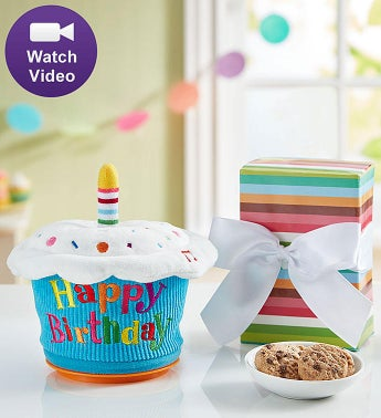 Animated Birthday Cupcake with Cheryls Cookies