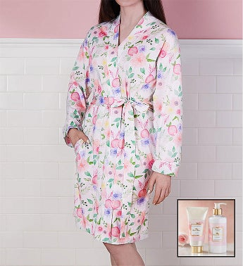 Floral Robe and Spa Gift Set