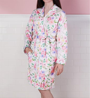 Womens Floral Robe