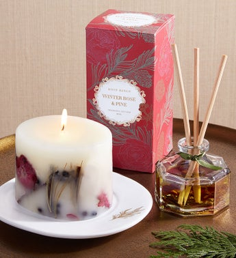 Rosy Rings Winter Rose  Pine Gift Set