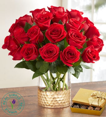 Classic Holiday Red Roses by Real Simple®