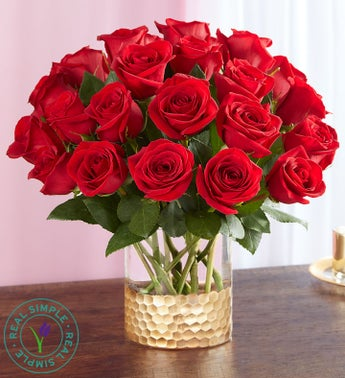 Classic Red Roses by Real Simple