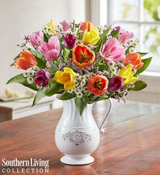 Fresh Spring Tulip Pitcher by Southern Living™