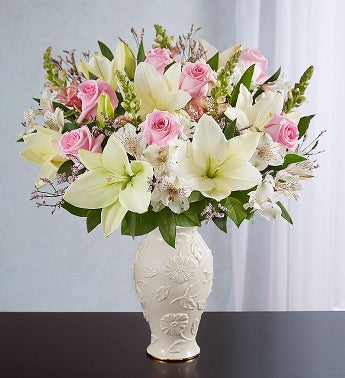 Loving Blooms Lenox Pink  White