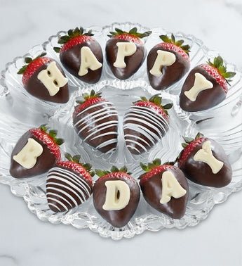 Happy Birthday Chocolate Covered Strawberries
