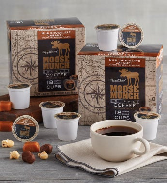 Moose Munch174 Milk Chocolate Caramel Single-Serve Coffee Two-Pack
