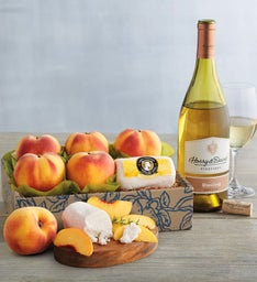 Oregold® Peaches, Honey Goat Cheese, and Harry & David™ Riesling