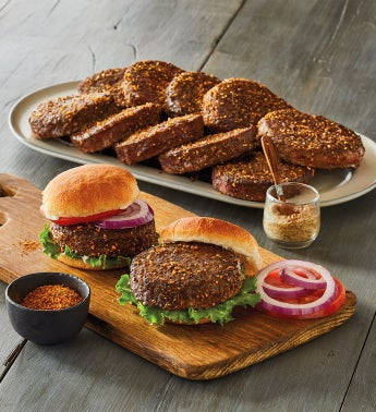 Twelve 8-Ounce Steak Burgers and Hamburger Spice Rub