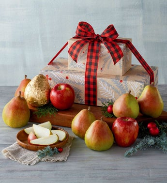 Holiday Pears and Apples Tower