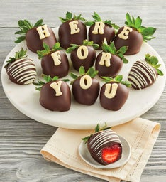 """Here for You"" Chocolate-Covered Strawberries"