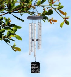 Wrapped In Angel Wings Memorial Wind Chime