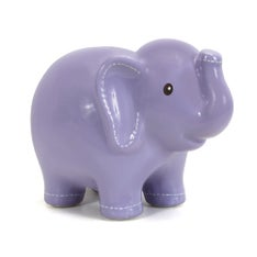 Personalized Hand-Painted Lavender Stitched Elephant Bank
