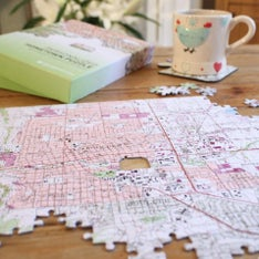 Personalized Hometown Topographic Map Puzzle