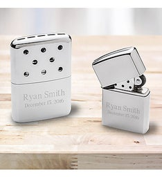 Personalized Zippo Hand Warmer and Lighter Gift Set