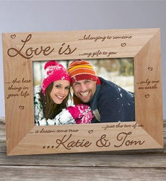 ENGRAVED LOVE IS PICTURE FRAME