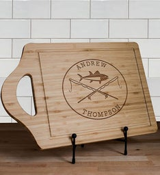 Engraved Fishing Poles Cutting Board