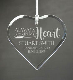Personalized In My Heart Ornament