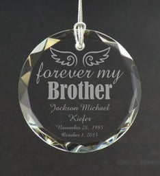 Personalized Forever My Brother Ornament