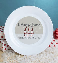 Personalized Welcome Gnome Plate