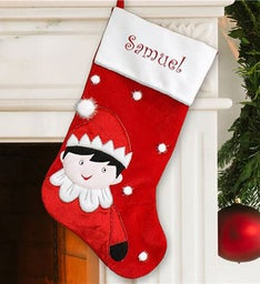 Personalized Elf Name Stocking