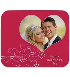 Personalized Lots of Hearts Mouse Pad