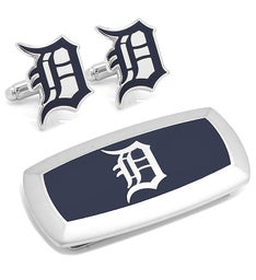 Detroit Tigers Cufflinks and Cushion Money Clip