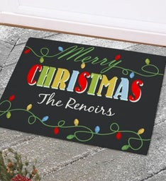Personalized Christmas Lights Doormats