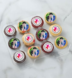 12-24 Mini Personalized Love  Romance Cupcakes
