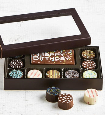 Simply Chocolate Birthday Bar  Truffles 10pc