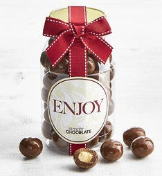 Simply Chocolate Enjoy! Malted Milk Balls Jar