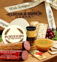 Lucca & Sons™  Sausage & Cheese Sympathy Gift Box