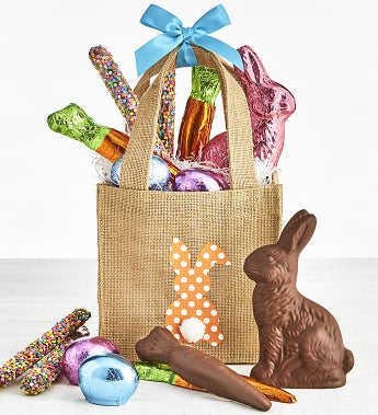 Art CoCo Happy Easter Chocolates Tote Basket