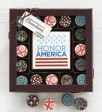Simply Chocolate Honor America Bar  Truffles