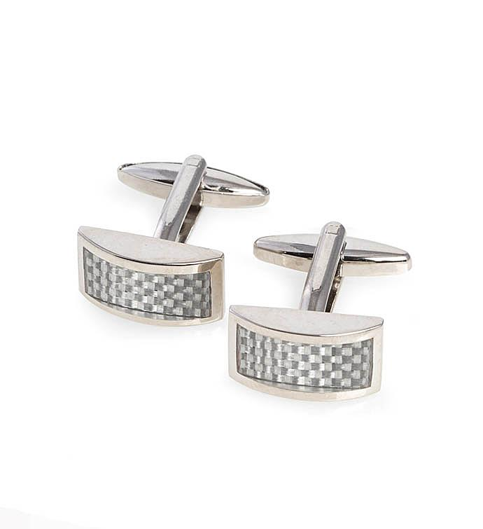 White Carbon Cufflinks